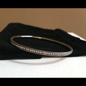 Nadri Graphite Cubic Zirconia Bangle Bracelet